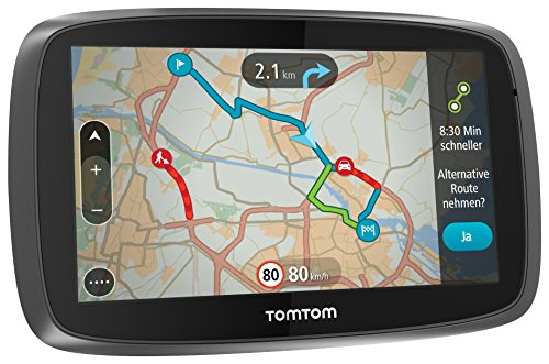 TomTom GO 5000 Europe Navigationsgerät (13 cm (5 Zoll) Touchscreen, 8GB interner Speicher, QuickGPSfix, Lifetime TomTom Traffic & Maps) schwarz