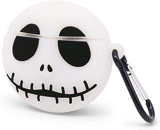YONOCOSTA Custodia per Airpods Carina, Custodia per Airpods 2, Cool Funny Noctilucent White Skull a Forma di Protezione Co...