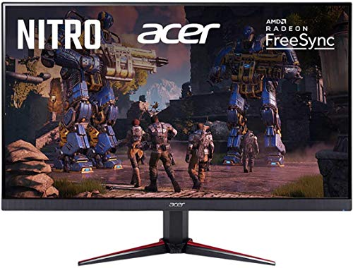Flagship 2020 Acer Nitro 27' 1080P Gaming/Office/Home Monitor - Ultra Narrow Edge, Anti-Glare FHD IPS 16:9 Display 75Hz 1ms Virtual Response Boost AMD Free Sync, Tilt Capable, VGA + iCarp HDMI Cable