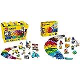 Lego 10698 Classic Caja De Ladrillos Creativos Grande, Juego De Construcción + 11013 Classic Ladrillos Creativos Transparentes Juego De Construcción con Figuras De Animales para Niños Y Niñas