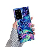 Galaxy Note 20 Ultra Case 5G 6.9',Duolaa Marble Phone Case for Women Girls Gold Sparkle Glitter Slim Fit Silicone TPU Bumper Shockproof Protective Cover Case for Samsung Galaxy Note 20 Ultra 2020-Blue
