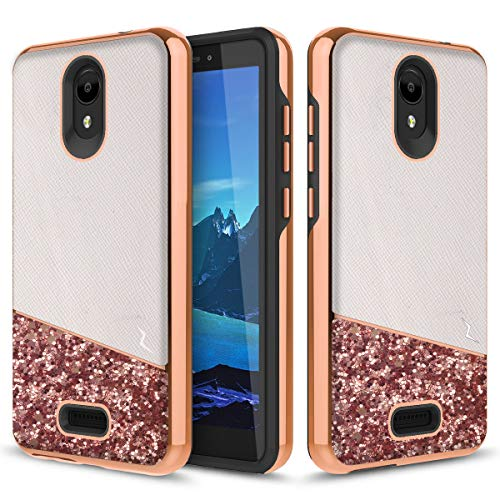 Alcatel TCL A1 Shockproof Glitter Case by Phonelicious