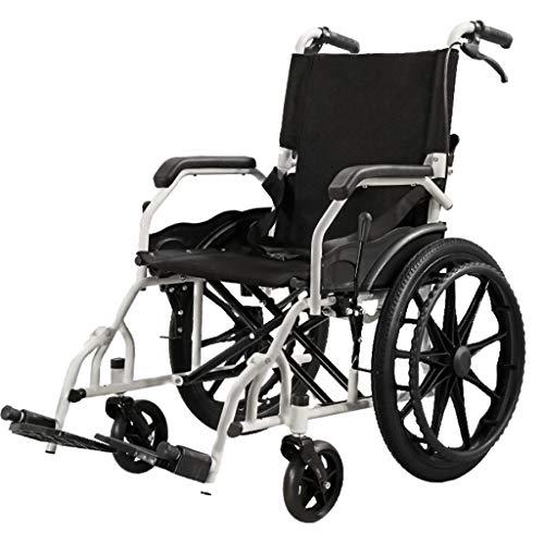 PäDiatrischer Rollstuhl FüR Jugendliche, Junge Erwachsene | Leichter, Zusammenklappbarer Rollstuhl | Mit Sicherheitsgurtschnalle | Abschwenkbare FußStüTze | LäNge Armlehnen