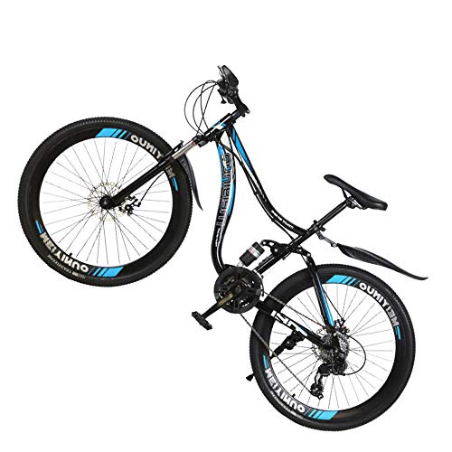 @Y.T 21/24/27 Speed Mountain Bike, 26-inch Shock-Absorbing Carbon Steel Frame Hard Tail Adjustable Seat Double Disc Brake Adult Off-Road Bicycle
