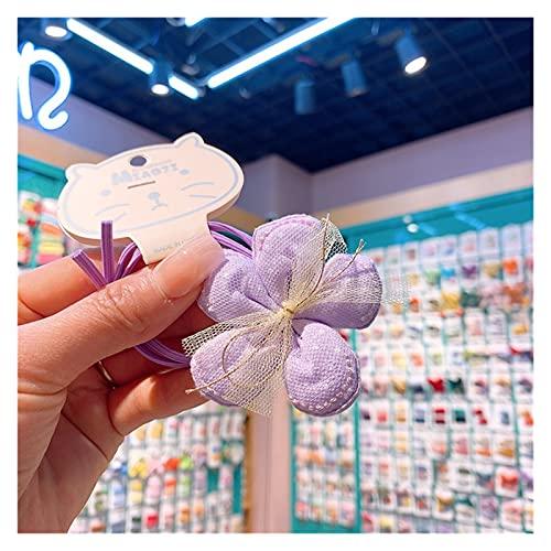 CHHNGPON Cuerda de Pelo para niños 2021 Corea Linda niña Simple Cuerdas de Pelo de Tela Punto de Onda Punto de Onda Flores Pelo Lazos para niños Accesorios para el Cabello (Color : E)