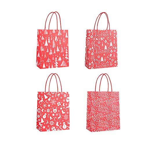 Fasclot Bag Paper Bag Packaging Kraft Paper Bottom Tote Bag 4pcs Home & Garden Home Decor