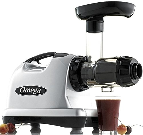 Omega J8006 Nutrition Center Quiet Dual-Stage Slow Speed Masticating Juicer Creates Continuous Fresh...