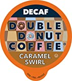 Caramel Swirl Medium Roast Decaf Flavored Coffee Pods for Keurig K Cups Makers from Double Donut, 24 Capsules