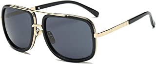 Big Frame Sunglasses Men Square Fashion Glasses for Women Retro Sun Glasses Vintage (Black)