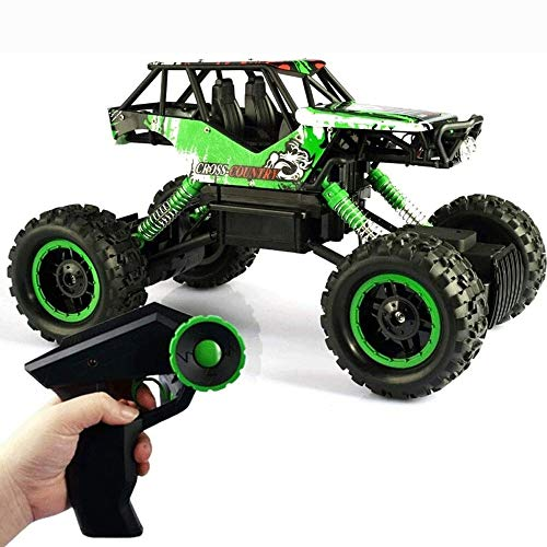LQZCXMF 2.4Ghz Recargable Hobby Car 4WD Fast Speed Racing Cars Rock Crawlers Dune Buggy Control Remoto Monster Truck Toy Para Regalos De Niño Coche RC, 1/12 Giant Metal Shell Double Motors Vehículo To