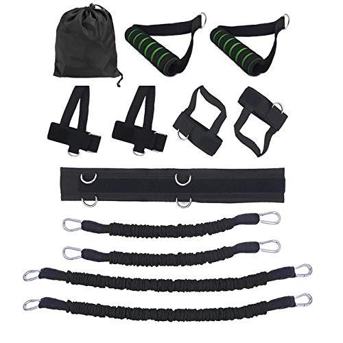 SHDEXIA Übungsbänder, Krafttraining Workout, elastische Widerstandsbänder, weich und bequem, zum Aufhängen, Schwarz