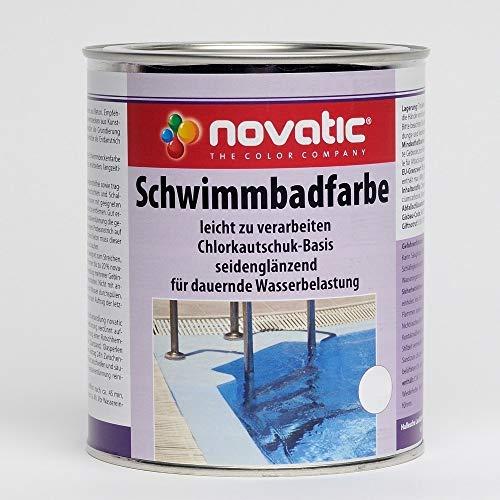 Novatic Schwimmbadfarbe 2,5 Liter RAL 9010 Reinweiß