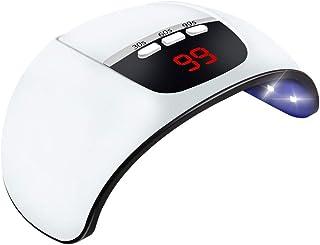Wencaimd LED Uñas Lámpara, Auto Sensor UV Secador de Uñas con Visor LCD y Temporizador Ajuste para Shellac y Esmalte en Gel - Blanco