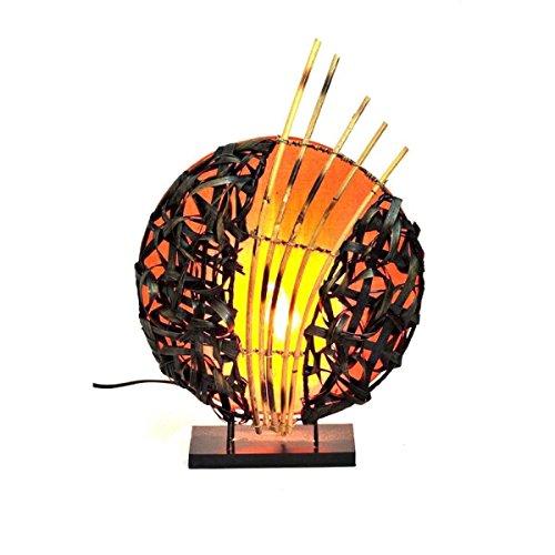 Deko-Leuchte Stimmungsleuchte Stehleuchte Tischleuchte Tischlampe Bali Asia Feng Shui Color Orange