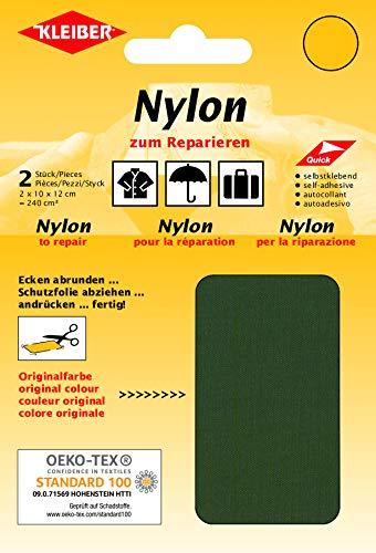 Kleiber + Co.GmbH Nylon-Flicken, 100{fc1b80503be6be13e1b821afc0a75f9514a304591ac2f9c896fb970b46fb844a} Polyamid, Olive