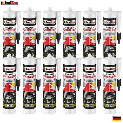 Bitumenkleber 12 x 310ml Dachdichtstoff Bitumen Dichtmasse Schindelkleber schwarz