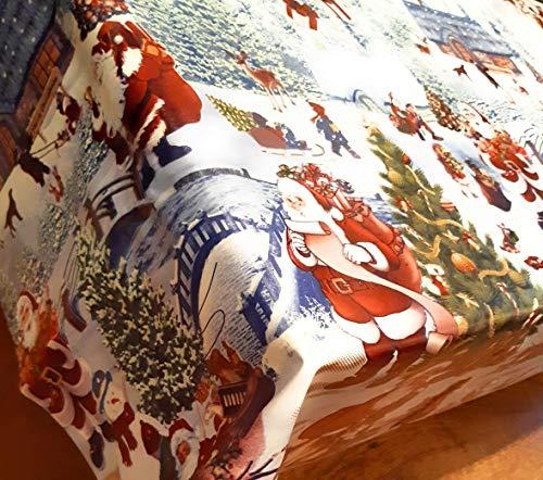 Mantel de Navidad para Navidad, diseño de caseta de Navidad, tamaño 200 x 140 cm