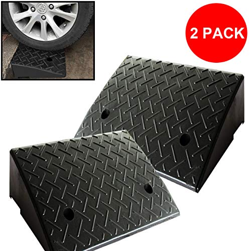 Reliancer 2 Rubber Curb Ramps Heavy Duty 44000 lbs Threshold covid 19 (20 Ton Wide Truck Ramps coronavirus)