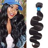 Cranberry Hair Unprocessed Peruvian Virgin Hair Body Wave One Bundle Virgin Human Hair Extension Weave Natural Black Color(28)
