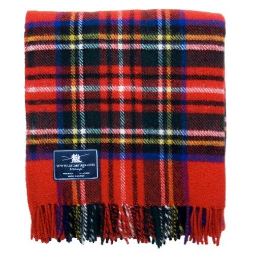 Tweedmill Textiles Royal Stewart Tartán Lana Manta
