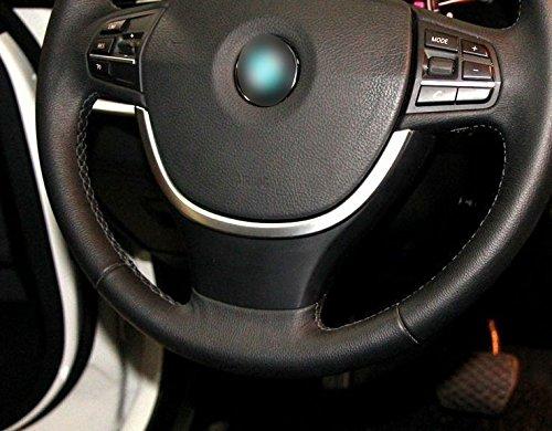 Auto Lenkrad Abdeckung Lenkradbezug ABS Deckel Lenkradhülle dekorative Zierleiste Abdeckung Innenausstattung Auto Gadget für BMW 5 Series 5GT F10 F07 Steering Wheel Bottom Cover Trim U Shape ABS