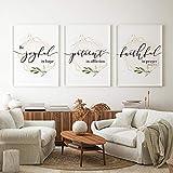 WTYBGDAN Bibel Vers Typografie Christliche Wandkunst