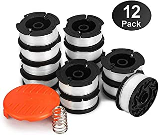 """YWTESCH Line String Trimmer Replacement Spool, 30ft 0.065"""" Autofeed String Trimmer Line Replacement Spool for Black+Decker String Trimmers (Pack of 13/30ft)"""