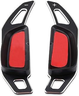 1pair Aluminium Auto Volant de Voiture palettes au Volant for Mercedes Benz Extension W176 W246 W205 W212 W222 C117 Accessoires NO LOGO FJJ-FXP Couleur : inch OD Tube-1
