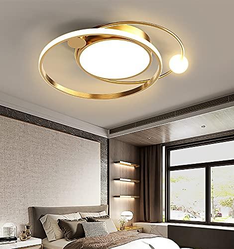 Luces de Techo LED Regulables para Dormitorio Lámpara de Techo para Comedor Elegante y Moderna Diseño Creativo Accesorio de Iluminación Remoto,Lámparas de Techo de Acrílico de Metal,φ50cm (dor