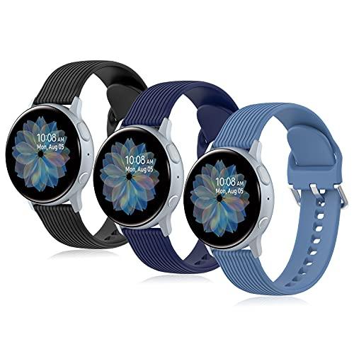Armband Kompatibel mit Galaxy Watch Active,20mm Silicon Smartwatch Ersatzarmband Strap Sportarmband für Samsung Galaxy Watch Active2/Watch 42MM/Watch 3 41mm/Gear S2 Sport/Garmin Vivoactive 3