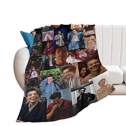 Manta de franela suave de Harry Styles, manta de forro polar, cálida impresa, regalo de cumpleaños para adolescentes, niñas, niños, mujeres, hombres, 40 x 50 pulgadas