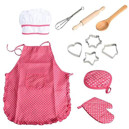 11pcs / pack chef de cocina Conjunto de niños Juegos de rol traje del cocinero con el...