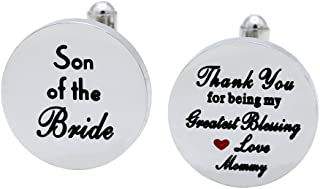 Melix Home Son of The Bride Cuff Links - Thank You for Being My Greatest Blessing Cuff Links
