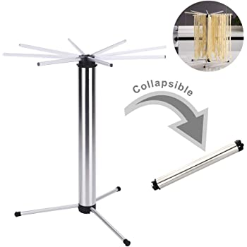 Collapsible Pasta Drying Rack for Easy Storage - Tall Noodle Spaghetti Dryer Stand for up to 6 lbs of Homemade Noodles - Anti-Slip Feet - Detachable for Easy Cleaning - by KITCHENDAO