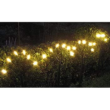 4 Gartenstecker Led Weihnachtsbeleuchtung Lichterkette Deko Aussen Amazon De Kuche Haushalt