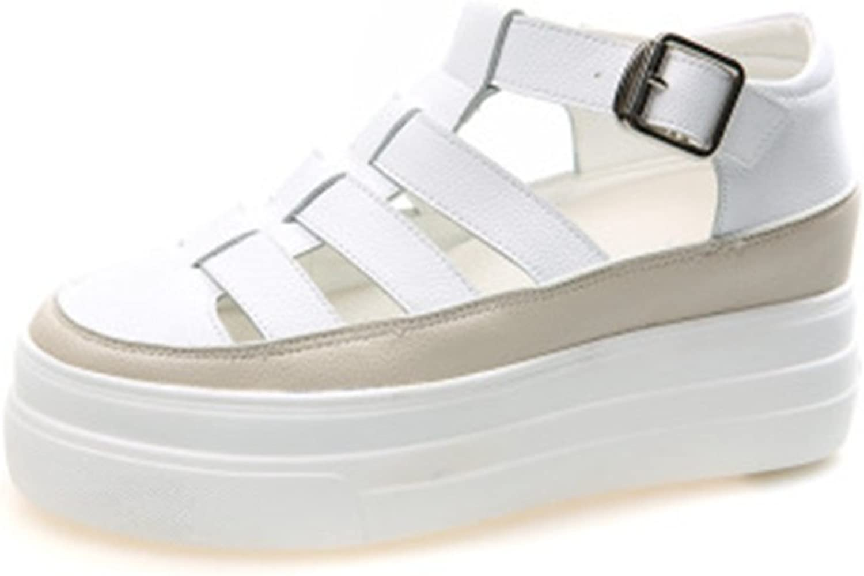 GIY Women's Fashion Gladiator Platform Strappy Sandals Buckle Close Toe Hidden Heel Wedges Sandals shoes