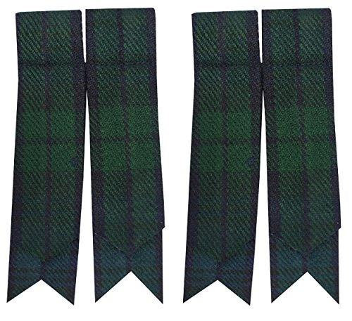SHYNE KILTS U.K Schottische Kilt-Flashes, verschiedenen Tartanstoffe, spitz zulaufend Größe L Mehrfarbig - Black Watch