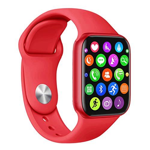 Wsaman Pulsera Actividad Pulsera Inteligente, Reloj Deportivo a Prueba de Agua con Pulsómetro, Blood Pressure, Sueño para Android iOS Hombre y Mujer, Podómetro Pulsera Inteligente,Rojo