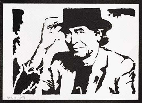 Poster Joaquín Sabina Grafiti Hecho a Mano - Handmade Street Art - Artwork