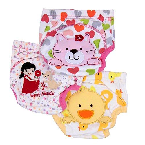 Care Lot de 3 x de maman pour Culottes d'apprentissage (Kitty, canard et ses amis)-18 mois