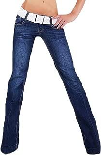 JEANS Donna Stretch Nero Blu Blu Scuro grande dimensioni Tg 46 48 50 52 54 NUOVO