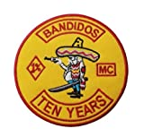 New Small Bandidos Embroidered Patches Iron On Front of Jacket Vest Front Patches Biker Rider 10/Pcs A Lot