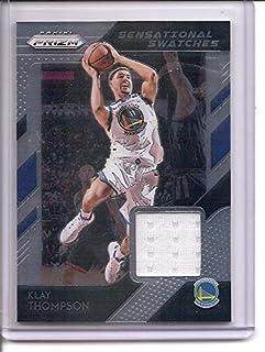 8c34b322873 Klay Thompson Golden State Warriors 2018-19 Panini Prizm Jersey Memorabilia  Basketball Card #46