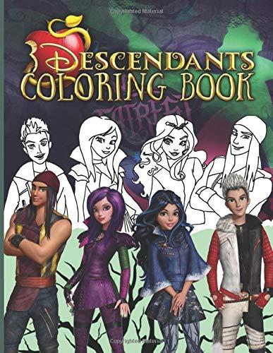 Descendants Coloring Book: Descendants 2 Stunning Coloring Books For Kid And Adult The Color Wonder