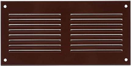 200x100mm bruin ventilatierooster afsluitrooster bescherming tegen insecten afvoerlucht toevoerlucht metalen rooster
