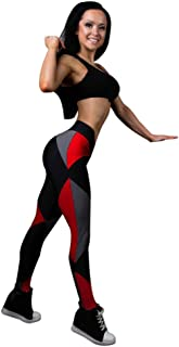 Women Yoga Leggings,Women Sports Gym Yoga Pants Mid Waist Workout Fitness Yoga Pants Elastic Trouser Yamally