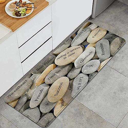 LOSNINA Tapis et Tapis de Cuisine Blessing Stone Inner Balance Concept Stone, Noin-SLP Comfort Floor Mats alfombras para Cocina, Oficina, Felpudo, Corredor ⭐