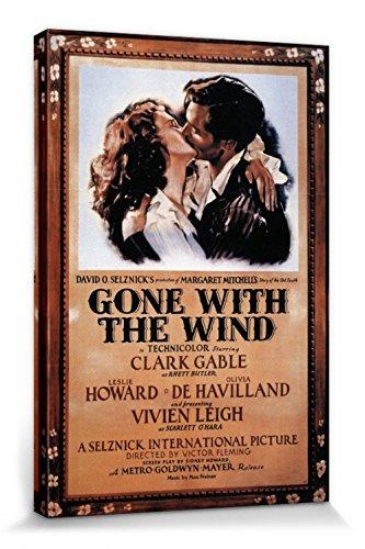 1art1 Vom Winde Verweht - Clark Gable Und Vivien Leigh, 1939 Bilder Leinwand-Bild Auf Keilrahmen | XXL-Wandbild Poster Kunstdruck Als Leinwandbild 30 x 20 cm