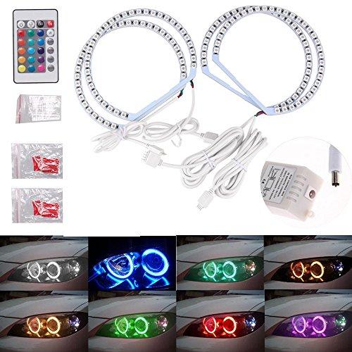 Qiuko 4131MM Multi-Color RGB LED Angel Eye Halo Rings Light for BMW E46 E38 E39 3 5 7 Series