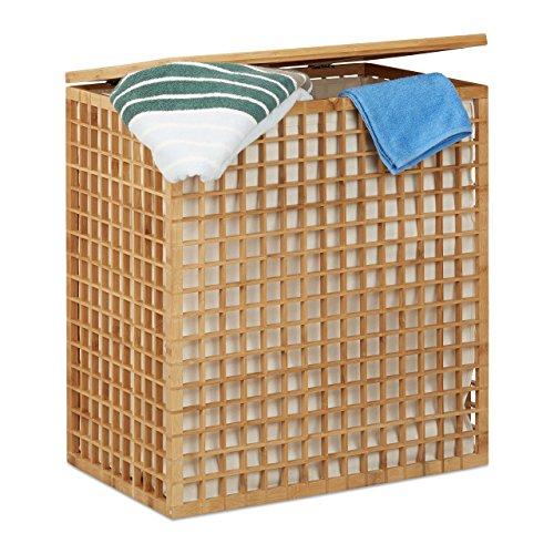 Cesto ropa sucia de madera, 96L